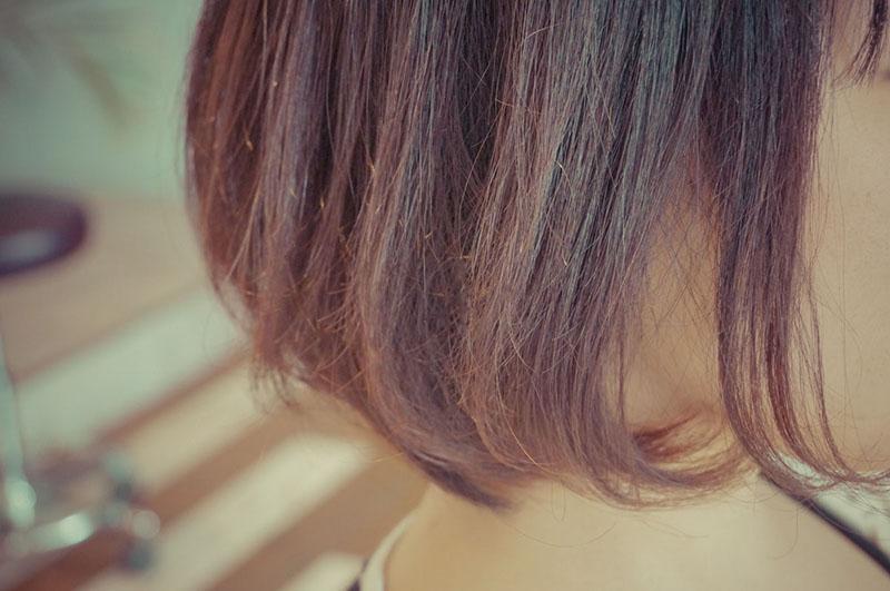 内巻きの縮毛矯正の毛先